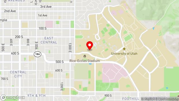 Google Map of 240 South 1500 East, Salt Lake City, UT 84112