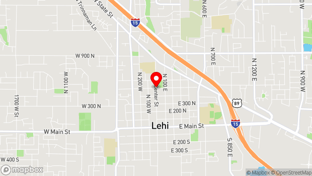 Google Map of 500 North Center Street, Lehi, UT 84043