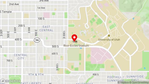 Google Map of 451 South 1400 East, Salt Lake City, UT 84112