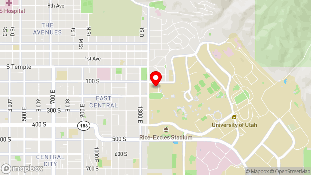 Google Map of 1395 East President's Circle, Salt Lake City, UT 84112
