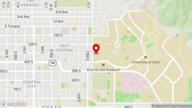 Google Map of 300 South 1400 East, Salt Lake City, UT 84112