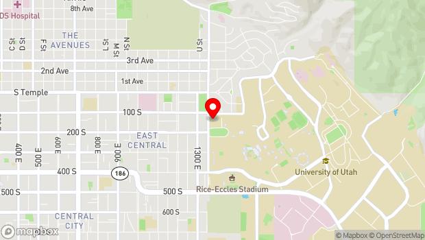 Google Map of 1375 East Presidents Circle, Salt Lake City, UT 84112