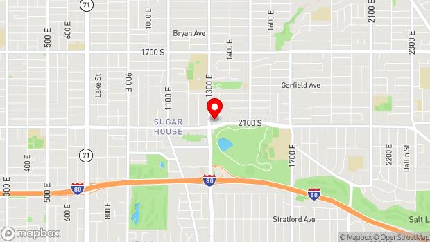 Google Map of 1327 E 2100 S, Salt Lake City, UT 84105