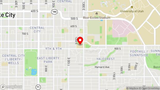 Google Map of 840 South 1300 East, Salt Lake City, UT 84102