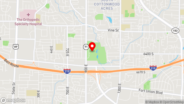 Google Map of 6351 South 900 East, Salt Lake City, UT 84121