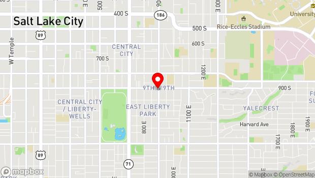 Google Map of 900 S 900 E, Salt Lake City, UT 84105