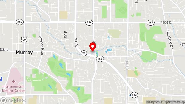 Google Map of 4760 South 900 East, Salt Lake City, UT 84117