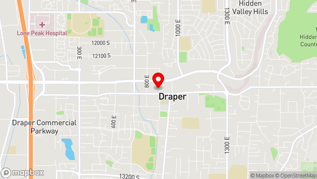 Google Map of 12366 South 900 East, Draper, UT 84020