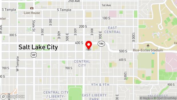 Google Map of 749 East 500 South, Salt Lake City, UT 84102