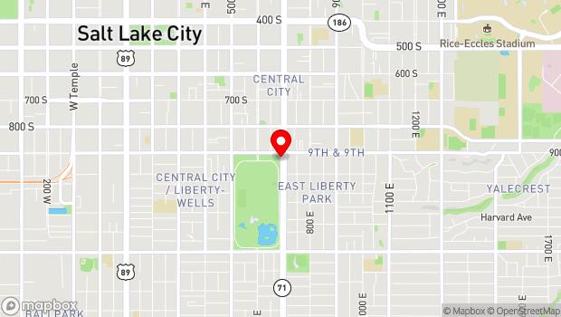 Google Map of 900 South 700 East, Salt Lake City, UT 84105