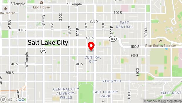 Google Map of 607 Trolley Square, Salt Lake City, UT 84102