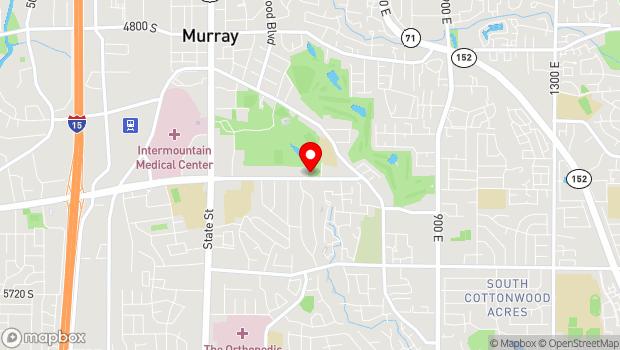Google Map of 495 East 5300 South, Salt Lake City, UT 84107