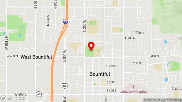 Google Map of 550 North 200 West, Bountiful, UT 84010