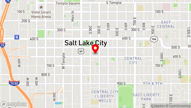 Google Map of Salt Lake City, UT 84111