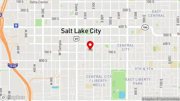 Google Map of 251 East 700 South, Salt Lake City, UT 84111