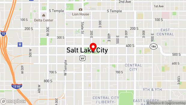 Google Map of 209 E 500 S, Salt Lake City, UT 84111