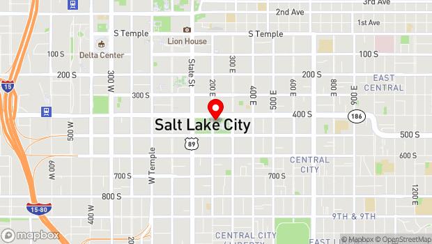 Google Map of 210 East 400 South, Salt Lake City, UT 84111