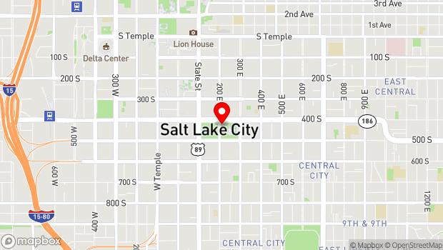 Google Map of 200 East 400 South, Salt Lake City, UT 84111