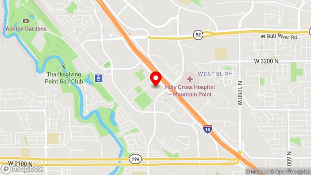 Google Map of 2935 Thanksgiving Way, Lehi, UT 84043