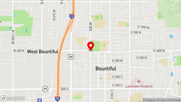 Google Map of 200 West 400 North, Bountiful, UT 84010