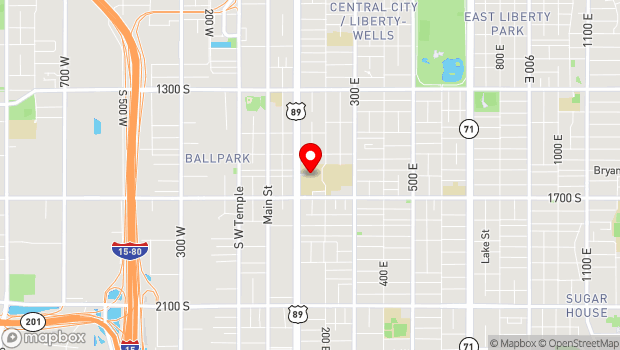Google Map of 1575 South State Street, Salt Lake City, UT 84115
