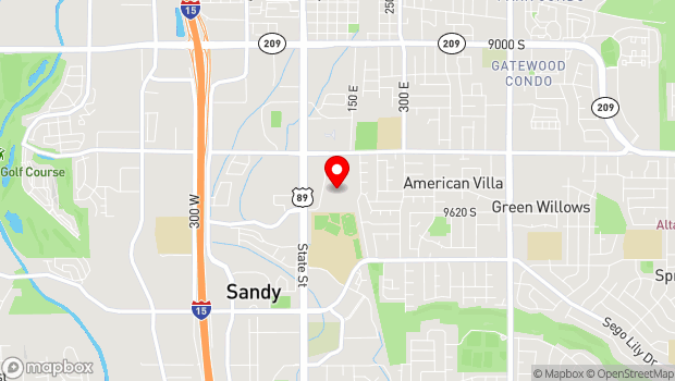 Google Map of 9575 S. State Street, Sandy, UT 84070
