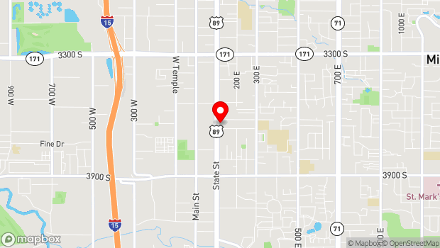 Google Map of 3605 South State Street, Salt Lake City, UT 84115