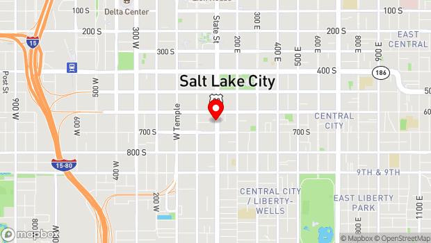 Google Map of 638 South State Street, Salt Lake City, UT 84111