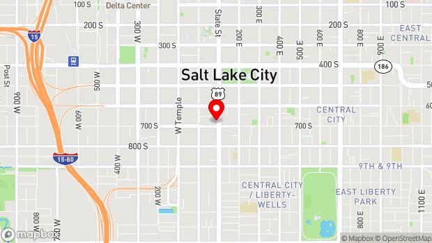 Google Map of 666 S State St, Salt Lake City, UT 84111