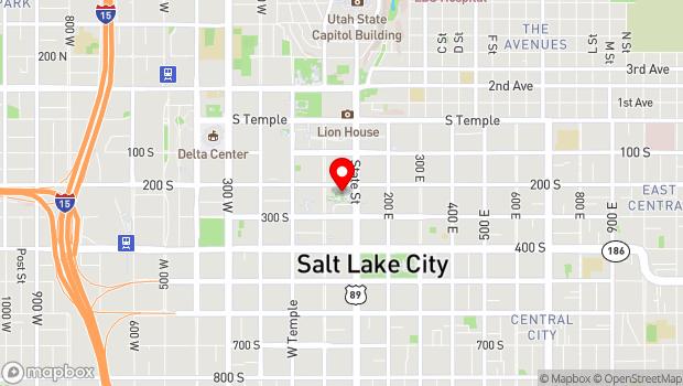 Google Map of 239 South Main Street, Salt Lake City, UT 84111