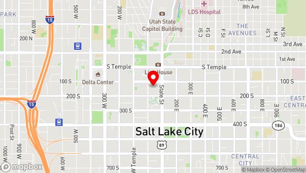 Google Map of 144 South Regent Street, Salt Lake City, UT 84111