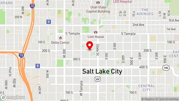 Google Map of 200 South Main Street, Salt Lake City, UT 84101