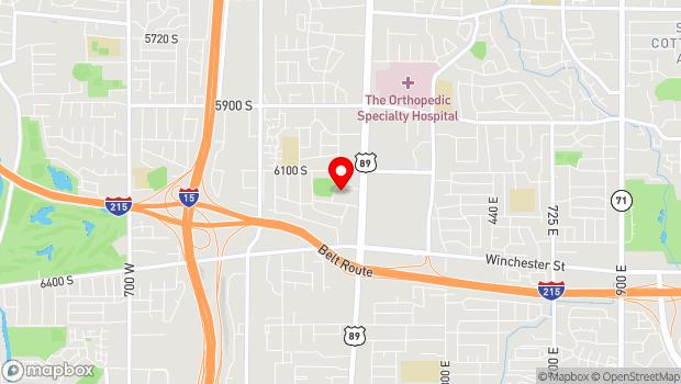 Google Map of 10 East 6150 South, Murray, UT