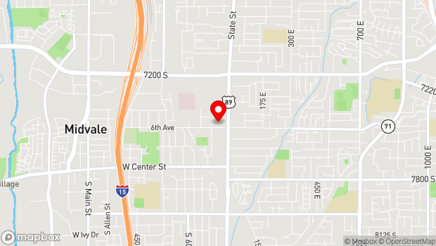 Google Map of 455 West 7500 South, Midvale, UT 84047