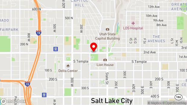 Google Map of 60 West North Temple, Salt Lake City, UT 84150