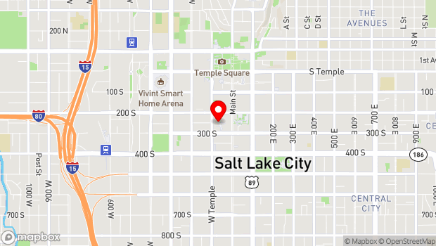 Google Map of 255 South West Temple, Salt Lake City, UT 84101