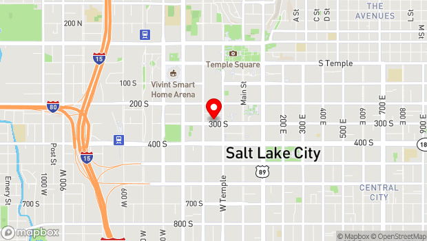 Google Map of 138 West 300 South, Salt Lake City, UT 84101