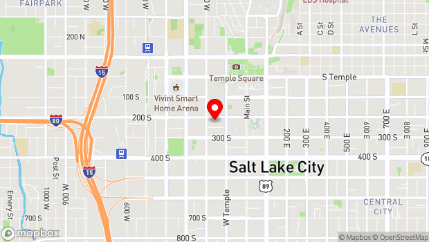 Google Map of 149 West 200 South, Salt Lake City, UT 84101