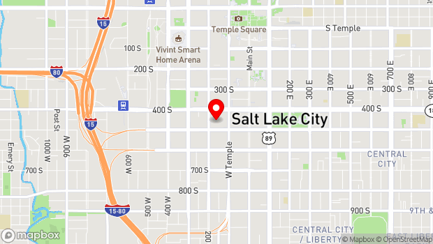 Google Map of 150 West 500 South, Salt Lake City, UT 84101