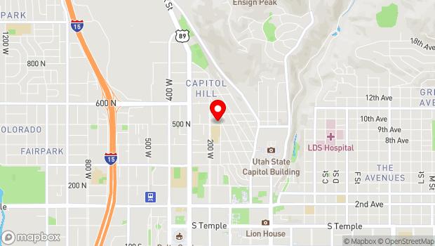 Google Map of 168 West 500 North, Salt Lake City, UT 84103
