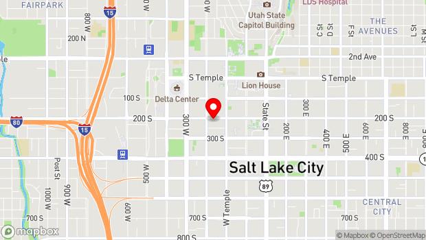 Google Map of 155 West 200 South, Salt Lake City, UT 84101