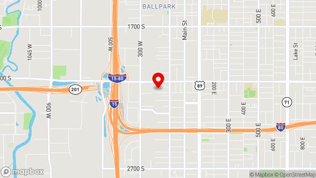 Google Map of 195 W. Commonwealth Ave. (2100 S.), Salt Lake City, UT 84115