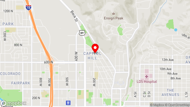 Google Map of 700 N 200 West, Salt Lake City, UT 84103