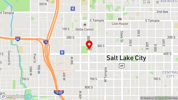 Google Map of 350 South 300 West, Salt Lake City, UT 84101