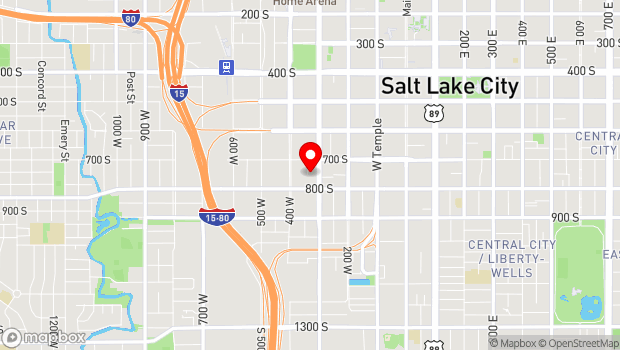 Google Map of 741 W Kilby Ct, Salt Lake City, UT 84101