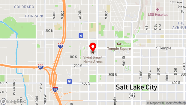 Google Map of 301 South Temple, Salt Lake City, UT 84101