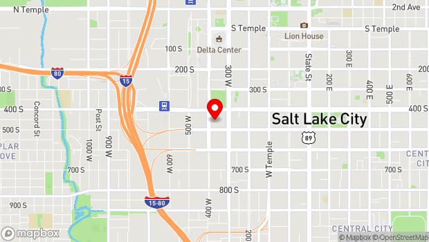 Google Map of 445 South 400 West, Salt Lake City, UT 84101