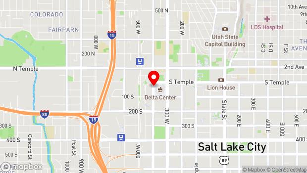 Google Map of 19 N 400 West, Salt Lake City, UT 84101