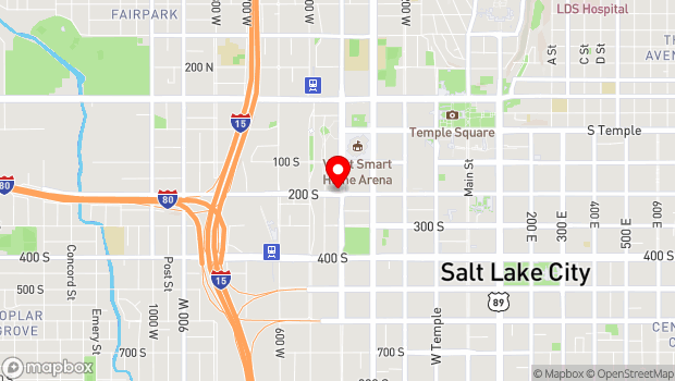 Google Map of 194 South 400 West, Salt Lake City, UT 84101