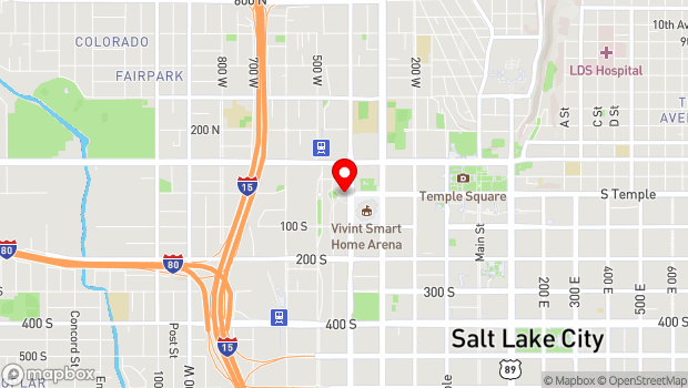 Google Map of 13 N 400 W, Salt Lake City, UT 84101